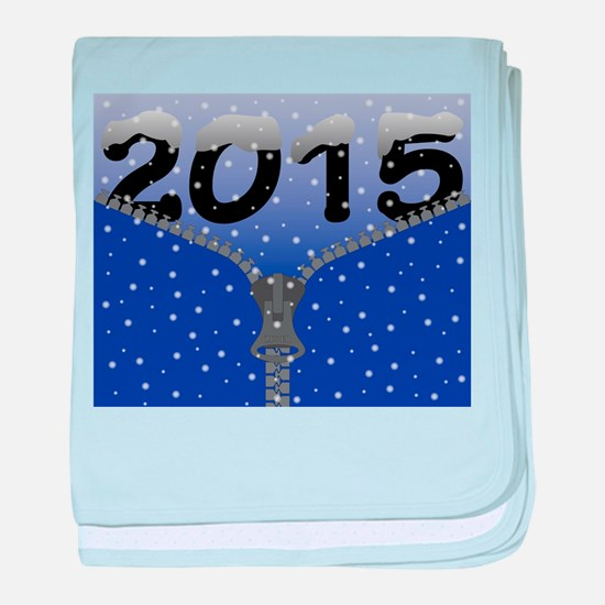 2015 Snow Zipper baby blanket