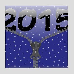 2015 Snow Zipper Tile Coaster