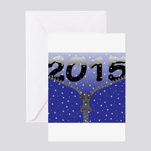 2015 Snow Zipper Greeting Cards
