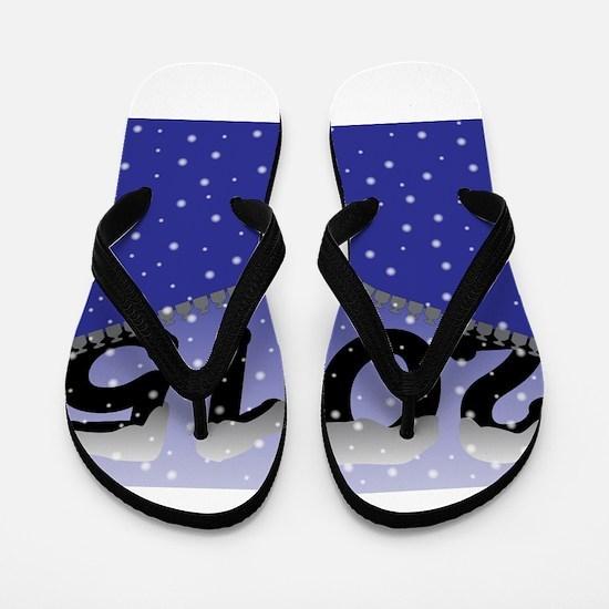 2015 Snow Zipper Flip Flops