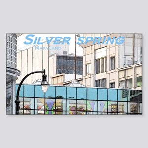 Silver Spring Rectangle Sticker