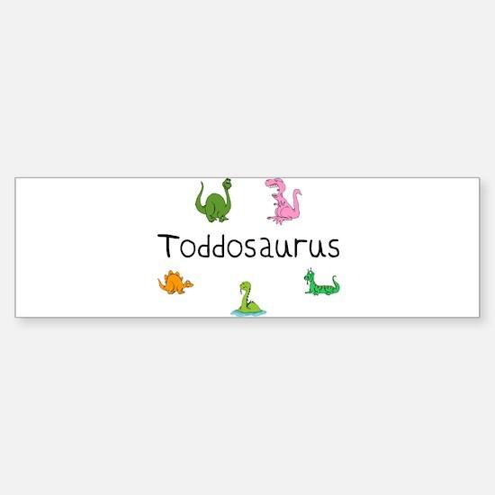 Toddosaurus Bumper Bumper Bumper Sticker