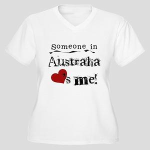 Australia Loves Me Women's Plus Size V-Neck T-Shir
