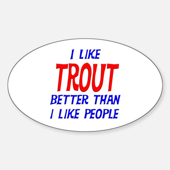 I Like Trout Oval Decal