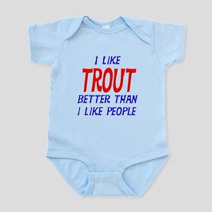 I Like Trout Infant Bodysuit