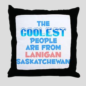 Coolest: Lanigan, SK Throw Pillow