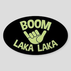 Boom Shaka Wave Sticker (Oval)
