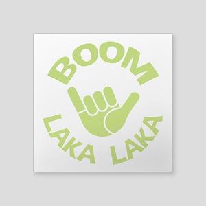"Boom Shaka Wave Square Sticker 3"" x 3"""