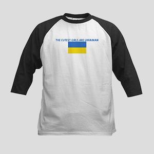 THE CUTEST GIRLS ARE UKRAINIA Kids Baseball Jersey