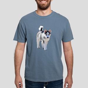 Female Husky Puppy Mens Comfort Colors Shirt