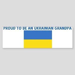 PROUD TO BE AN UKRAINIAN GRAN Bumper Sticker