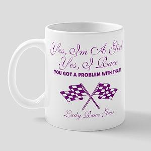 Yes, I'm A Girl- Yes, I Race Mug
