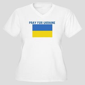 PRAY FOR UKRAINE Women's Plus Size V-Neck T-Shirt