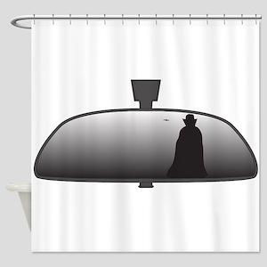 Dracula In Rear View Mirror Shower Curtain