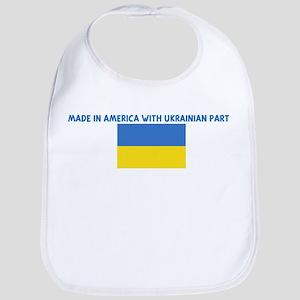 MADE IN AMERICA WITH UKRAINIA Bib