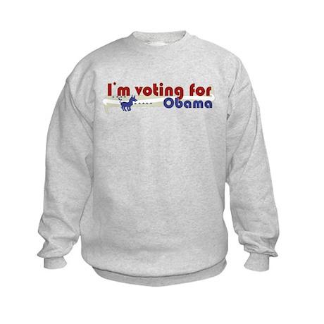 Voting Obama Kids Sweatshirt
