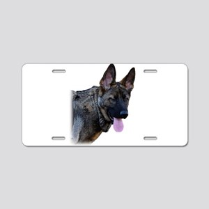 Winking German Shepherd Aluminum License Plate