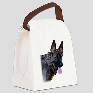 Winking German Shepherd Canvas Lunch Bag