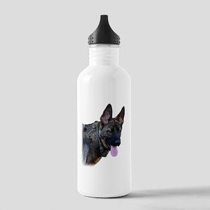 Winking German Shepherd Water Bottle