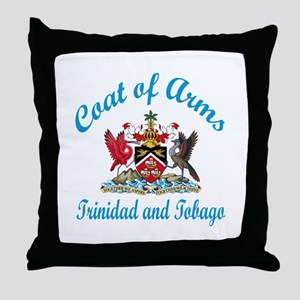 Cat Of Arms Trinidad Country Designs Throw Pillow