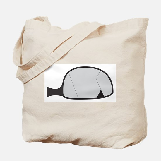 Cracked Car Side Mirror Tote Bag