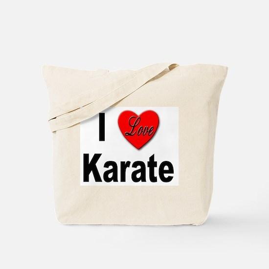 I Love Karate Tote Bag