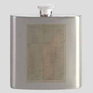 Vintage Map of Madagascar (1896) Flask