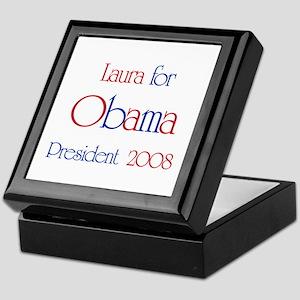 Laura for Obama 2008 Keepsake Box