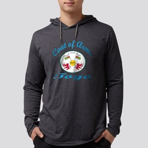 Cat Of Arms Tobago Country Desig Mens Hooded Shirt