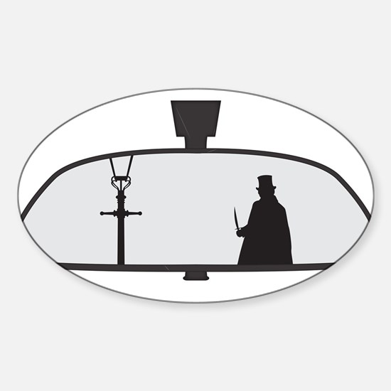 Jack The Ripper In Rear View Mirror Decal