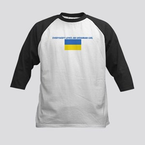 EVERYBODY LOVES AN UKRAINIAN  Kids Baseball Jersey