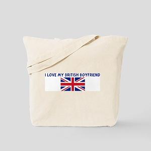 I LOVE MY BRITISH BOYFRIEND Tote Bag