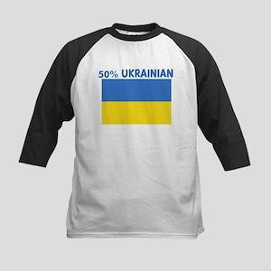 50 PERCENT UKRAINIAN Kids Baseball Jersey