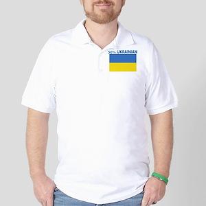 50 PERCENT UKRAINIAN Golf Shirt