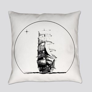 Tall Ship and Star Everyday Pillow