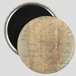 Vintage Map of Madagascar (1896) Magnets