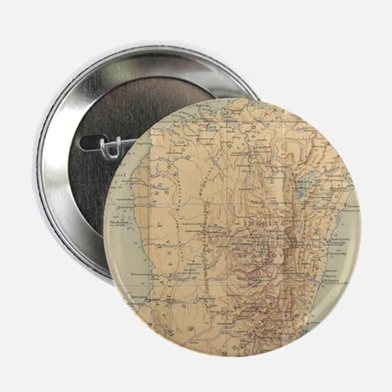 "Vintage Map of Madagascar (1896) 2.25"" Button"