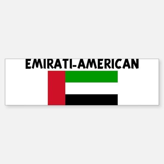 EMIRATI-AMERICAN Bumper Bumper Bumper Sticker