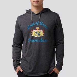 Cat Of Arms Sweden Country Desig Mens Hooded Shirt