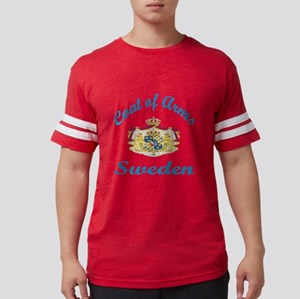 Cat Of Arms Sweden Country Des Mens Football Shirt
