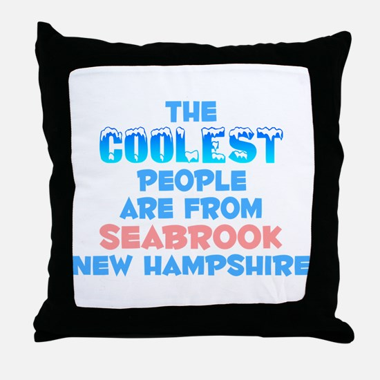 Coolest: Seabrook, NH Throw Pillow