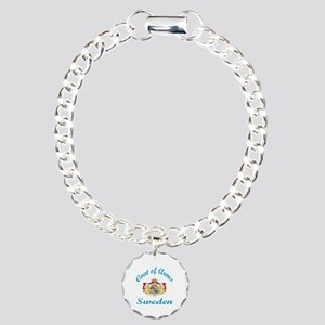 Cat Of Arms Sweden Count Charm Bracelet, One Charm