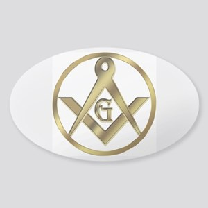 Masonic Vinyl Circle Oval Sticker