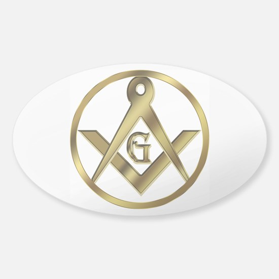 Masonic Vinyl Circle Oval Decal