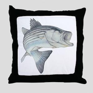 Lunker's Stripe Bass Throw Pillow