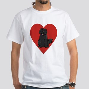 Love Newfie White T-Shirt