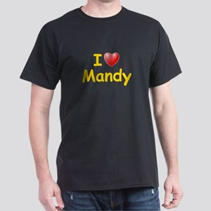 I Love Mandy (L) Dark T-Shirt