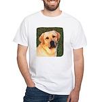 Yellow Labrador Retriever White T-Shirt