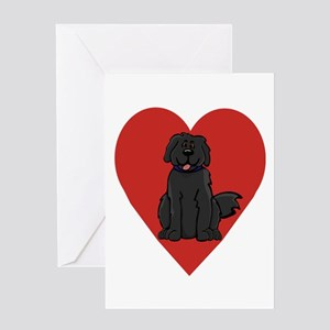 Love Newfie Greeting Card