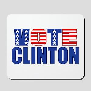 Vote Clinton (Stars & Stripes) Mousepad